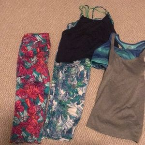Old Navy active (3)size medium & 1 size large